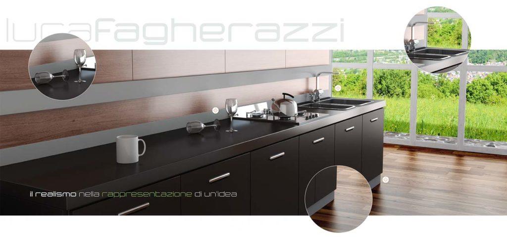 Luca Fagherazzi › Rendering services Belluno - Rendering cucina